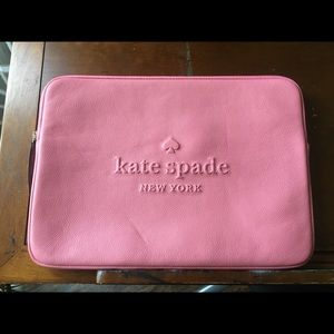 """14"""" pink leather Kate Spade laptop case (like new)"""